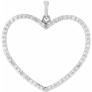 14K Yellow 1/4 CTW Diamond Heart Pendant