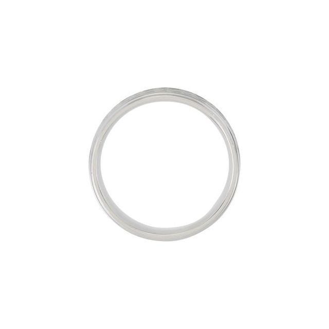 14K White 7 mm Design Band with Enamel Size 6