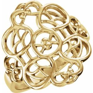 14K Yellow Filigree Ring