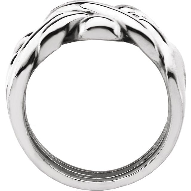 Sterling Silver 12.5 mm Puzzel Ring