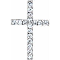 Menší Diamantový Kríž Prívesok alebo Neosadenýg