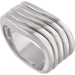 Sterling Silver Fashion Ring Size 6