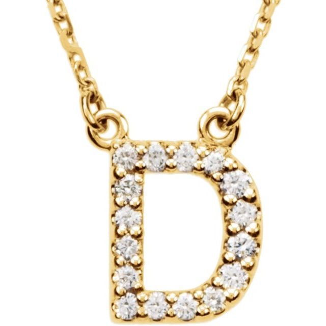 14K Yellow Initial D 1/8 CTW Diamond 16