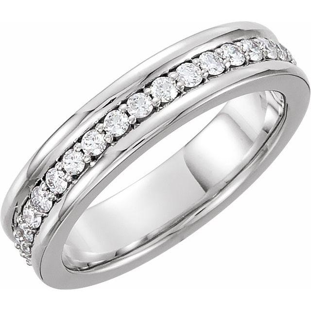 Platinum 3/4 CTW Diamond Eternity Band Size 11