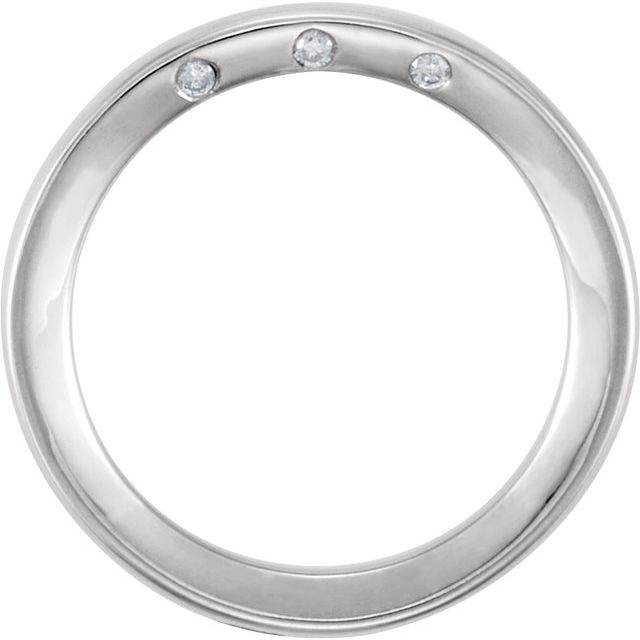 14K White 4 mm .03 CTW Diamond Accented Band Size 11