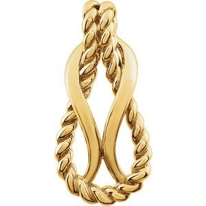 14K Yellow Teardrop Rope Design Pendant