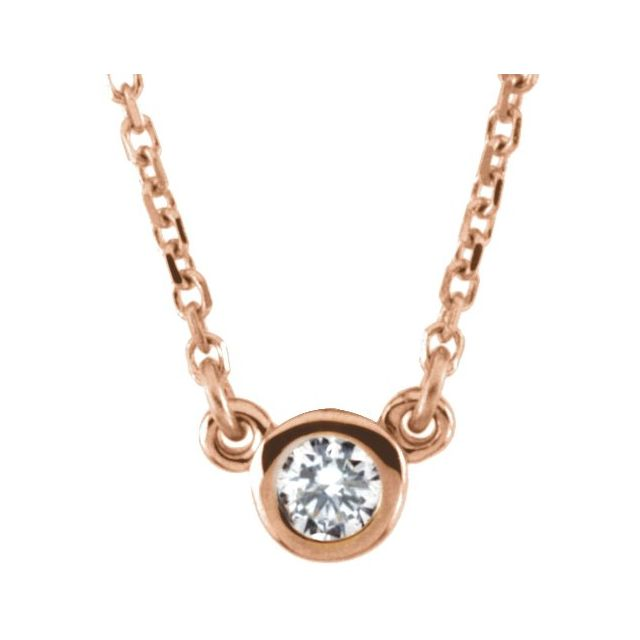 14K Rose 1/4 CTW Diamond 18