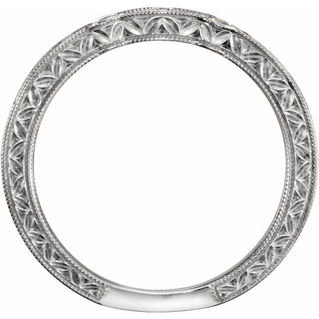 14K White 1/4 CTW Diamond Band Size 7