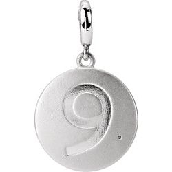 Numeric Disc Charm with Accent