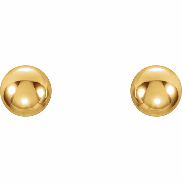 14K Yellow 3 mm Ball Stud Earrings