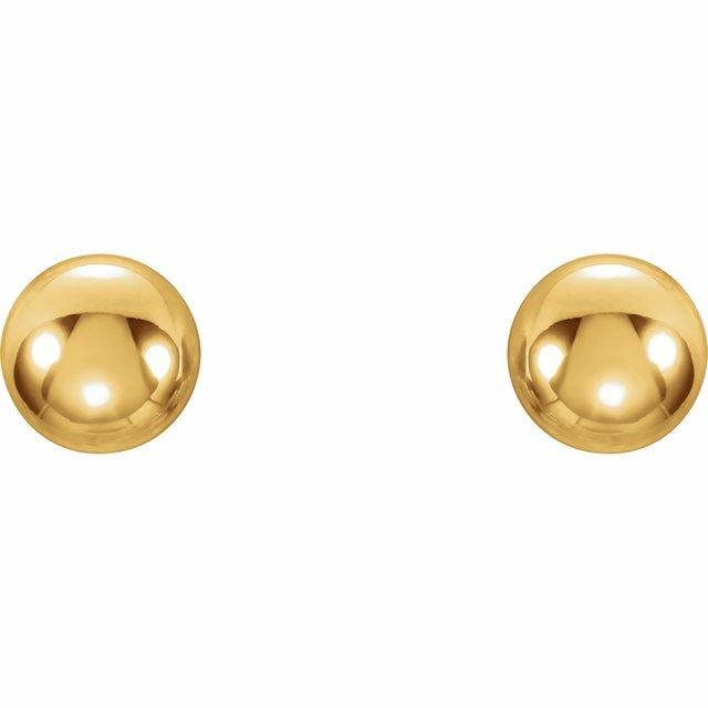 14K Yellow 3 mm Ball Stud Earrings
