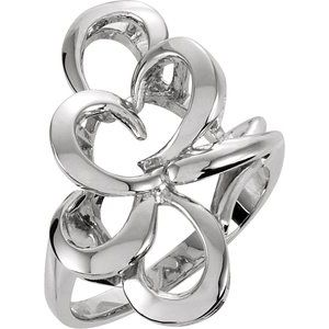 14K White Metal Fashion Ring