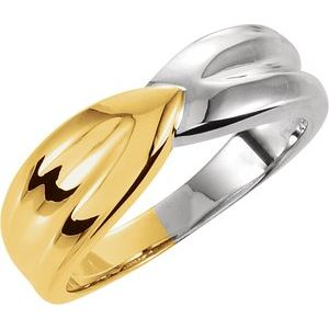 14K Yellow & White Fashion Ring