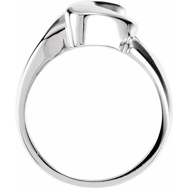 14K White Fashion Ring