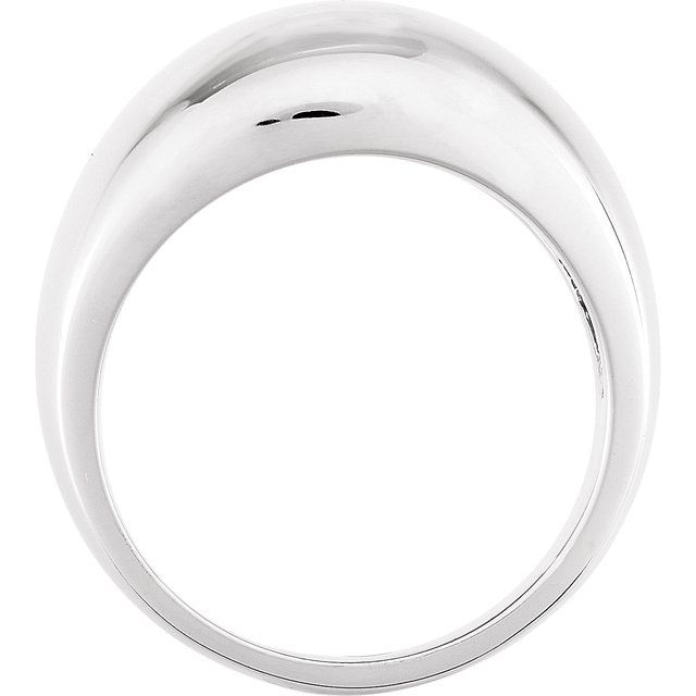 Sterling Silver 12 mm Dome Ring
