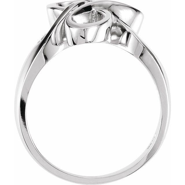 14K White Freeform Ring