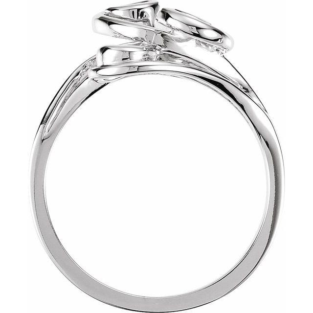 14K White Metal Fashion Ring