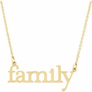 """14K Yellow """"Family"""" 17 1/2"""" Necklace"""