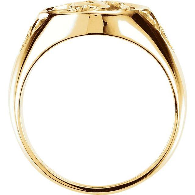 14K Yellow Filigree Ring