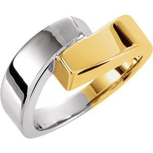 14K Yellow/White Bypass Ring
