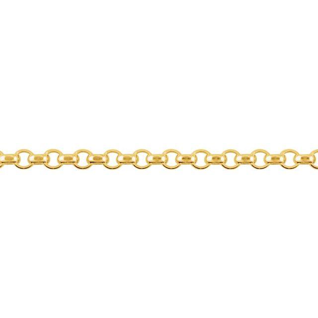 14K Yellow 2.5 mm Hollow Diamond Cut Rolo 16