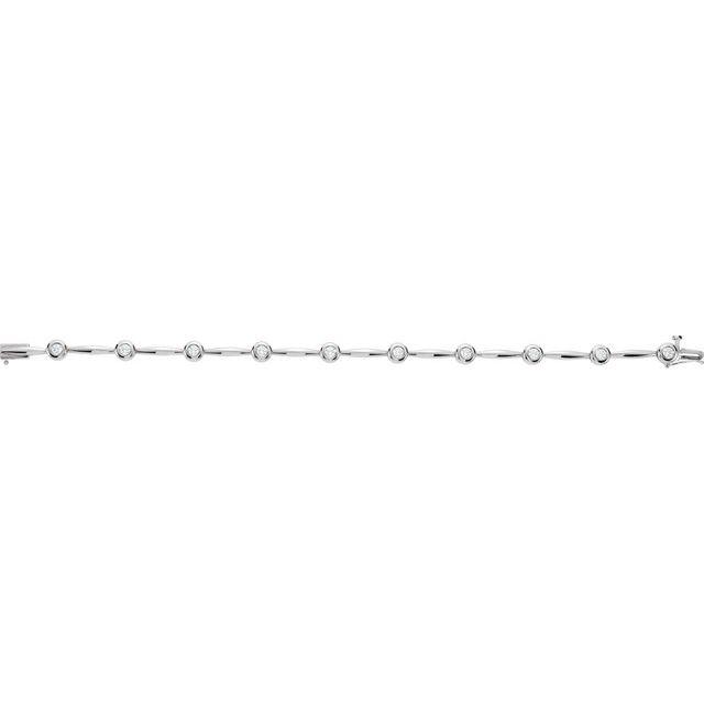 14K White 1 CTW Diamond Line 7 1/2