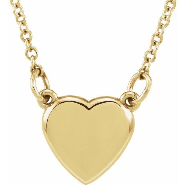 14K Yellow Heart 18