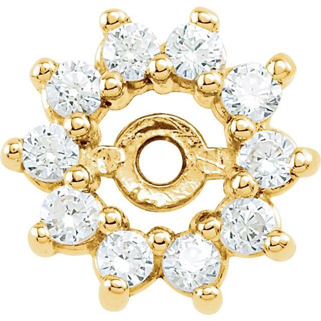 14K White 1/4 CTW Diamond Earring Jackets