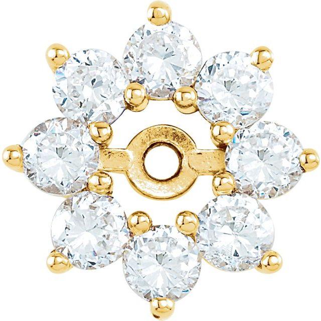 14K Yellow 3/4 CTW Diamond Earring Jackets
