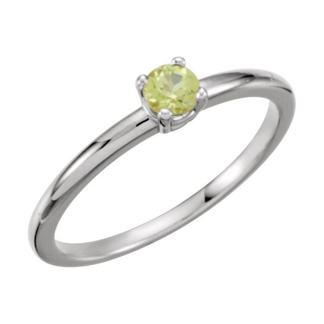 Sterling Silver Imitation Peridot