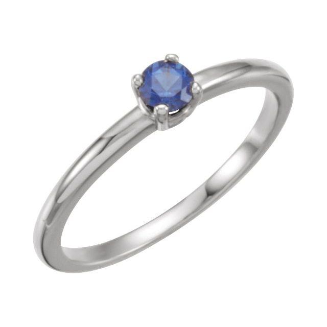 Sterling Silver Imitation Blue Sapphire