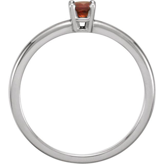 Sterling Silver Imitation Mozambique Garnet