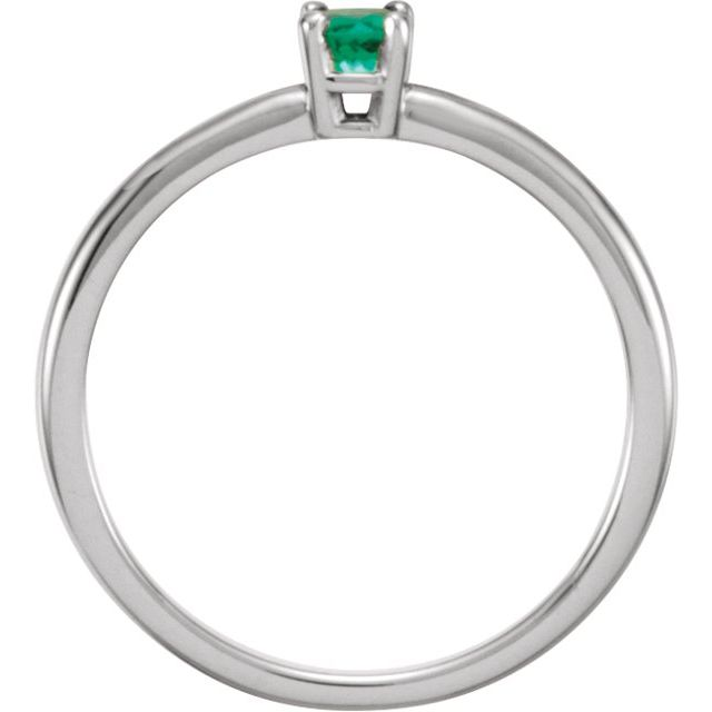 Sterling Silver Imitation Emerald