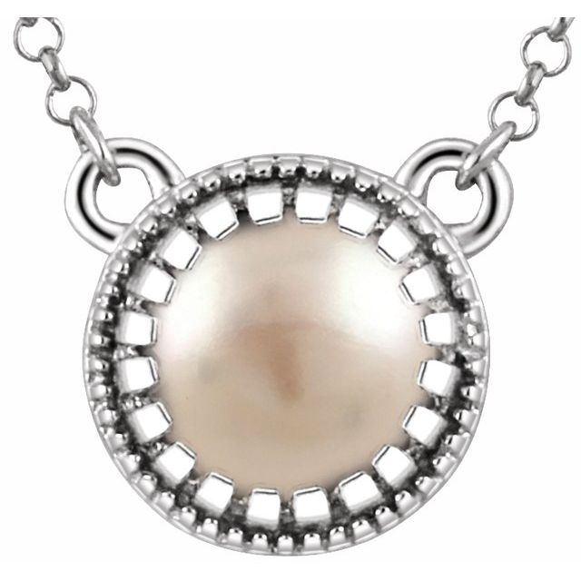 14K White Freshwater Cultured Pearl