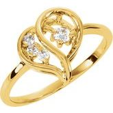 Diamond Heart-Shaped Ring