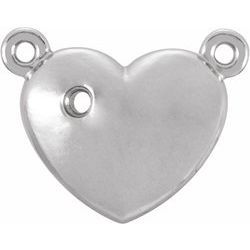 Diamond Accented Heart Necklace or Center Mounting
