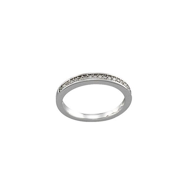14K White 1/6 CTW Diamond Band for 3.8 mm Engagement Ring