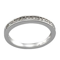 14K White 1/6 CTW Diamond Band for 3.8 mm Engagement Ring