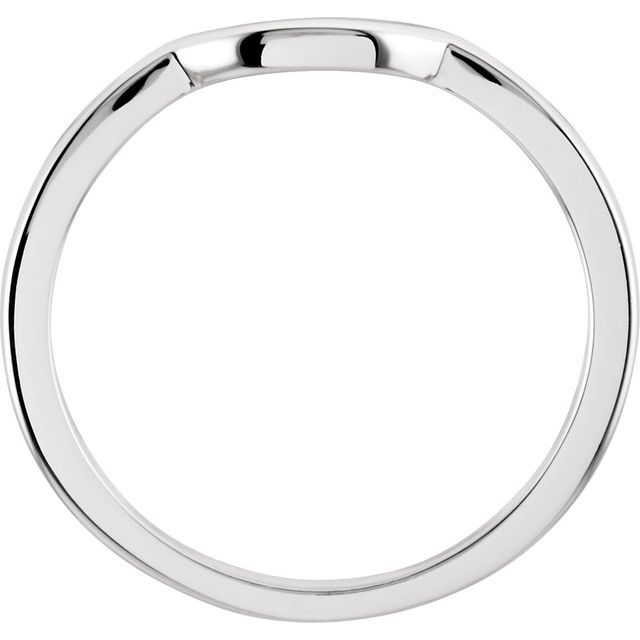 14K White Band for 6.5 mm Engagement Ring