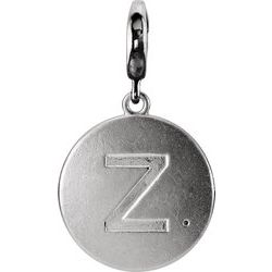Block Initial Disc Charm with Accent