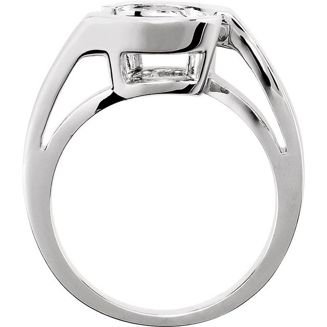14K White 6.5 mm Band