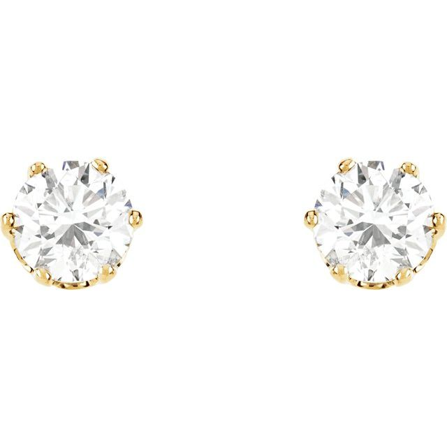 14K Yellow 1/5 CTW Natural Diamond Stud Earrings