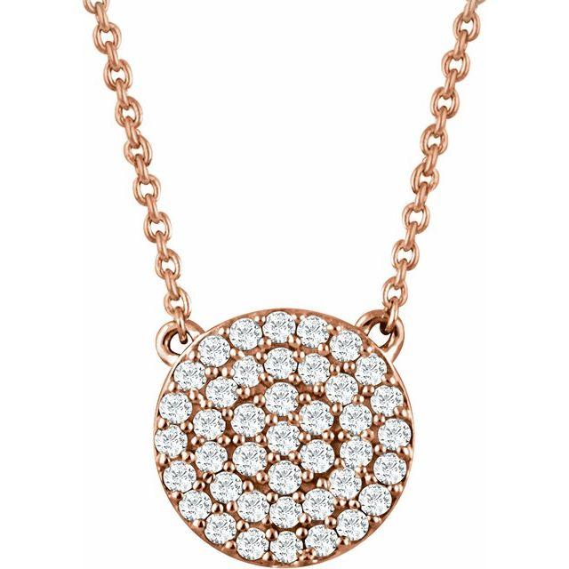 14K Rose 1/3 CTW Natural Diamond Cluster 16-18
