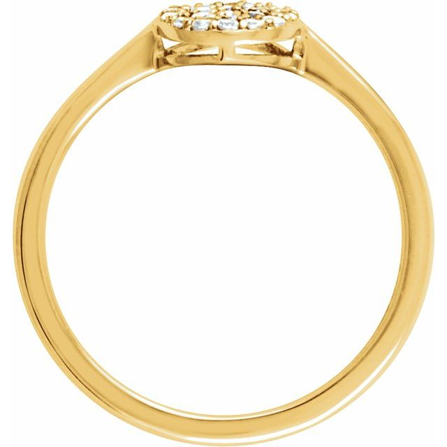 14K Yellow 1/5 CTW Diamond Cluster Ring