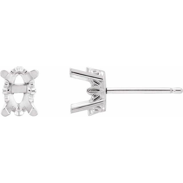 14K White Morganite Earrings