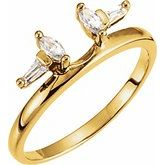 Baguette Accented Wrap-Style Ring Enhancer