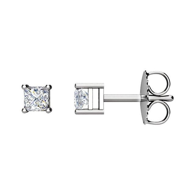 14K White 1/4CTW Diamond Earrings