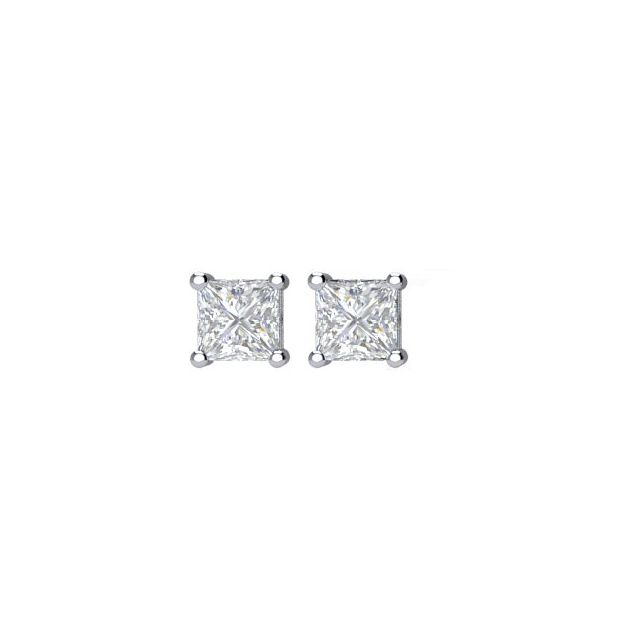 14K White 1/4CTW Diamond Earrings