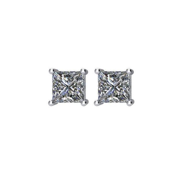 14K Yellow 5/8 CTW Diamond Threaded Post Stud Earrings