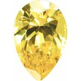 Pear Yellow Cubic Zirconia